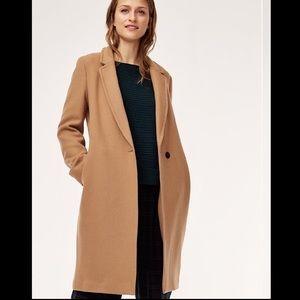 NWT Aritzia Babaton Tan Steadman Wool Coat Medium